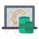 Data Portability Data Movement Easy Data Collection Icon