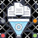Data Preparation Data Funnel Data Conversion Icon