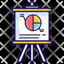 Pie Graph Data Presentation Graphical Presentation Icon