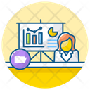 Data Presentation Business Presentation Data Visualization Icon