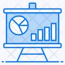 Data Presentation Business Presentation Bar Chart Analysis Icon