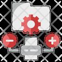 Data Printing Data Storage Data Management Icon