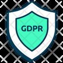Data Privacy Shield Protection Icon