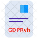 Data Privacy Gdpr Document Gdpr Tutorial Icon