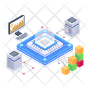Data Networking Processing Technology Data Processing Icon