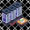 Data Statistics Data Processing Data Racks Icon
