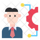 Bussiness Bussinessman Process Icon