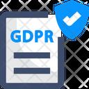 Data Protectionv Data Protection Gdpr Icon