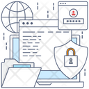 Folder Security Locked Folder Secure Document Icon