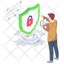 Secure Lock Cybersecurity Data Protection Icon