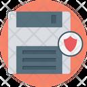 Data Protection Floppy Storage Icon