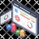 Data Evaluation Data Visualization Data Analytics Icon