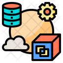 Data Relation Big Data Online Icon