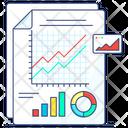 Data Analysis Report Data Report Evaluation Report Icon