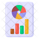 Graphical Presentation Business Analysis Data Report Icon