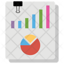 Data Report Bar Chart Graphical Report Icon