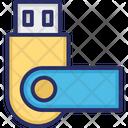 Data Saver Flash Data Stick Disk Device Icon