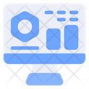Data Science Online Analysis Computer Icon