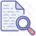Data Search Document Analysis Report Analysis Icon