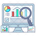 Data Analysis Data Search Analytical Analysis Icon