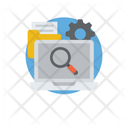 Data Search Data Management Data Analysis Icon