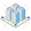 Data Server Data Rack Datacenter Icon