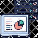 Data Server Analysis Data Center Data Rack Icon
