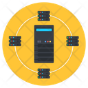 Data Server Architecture Server Network Server Rack Icon