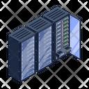 Server Network Data Server Room Data Banks Icon