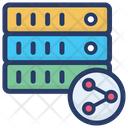 Big Data Share Data Server Share Database Connection Icon