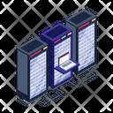 Server Room Database Servers Data Servers Icon