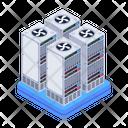 Server Room Data Servers Data Centers Icon