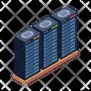 Server Room Server Racks Data Centers Icon