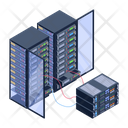 Server Room Data Servers Data Centers Icon