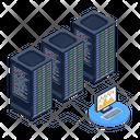 Data Servers Room Database Servers Data Centers Icon
