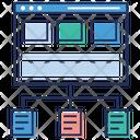 Data Sharing Web Services Data Analytics Icon