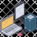 Data Sharing Server Hosting Centralized Network Icon