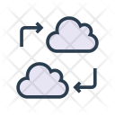 Cloud Transfer Database Icon