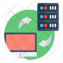 Data Transfer Data Sharing Data Transmission Icon