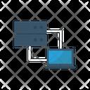 Data Sharing Server Laptop Icon
