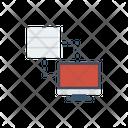 Data Sharing Server Computer Icon