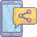 Content Marketing Content Sharing Data Sharing Icon