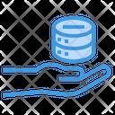 Data Sharing Hand Server Icon