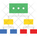 Data Sharing Hierarchy Networking Icon