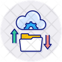 Data Sharing Cloud Data Icon