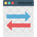 Data Sharing Arrows Data Travelling Icon