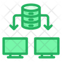 Data Transfer Computers Database Icon