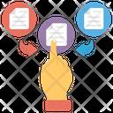 Data Sharing Data Exchanging Data Transfer Icon
