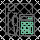 Calculator Report Data Icon