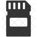 Data Storage Flash Card Memory Icon